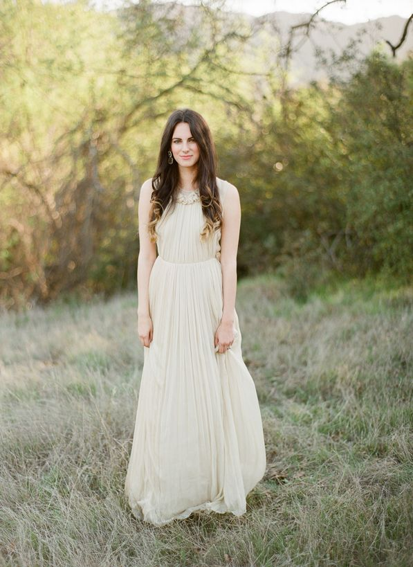 Dress: Chloé - Natural Outdoor Anniversary Session captured by Christine Doneé - via Once Wed