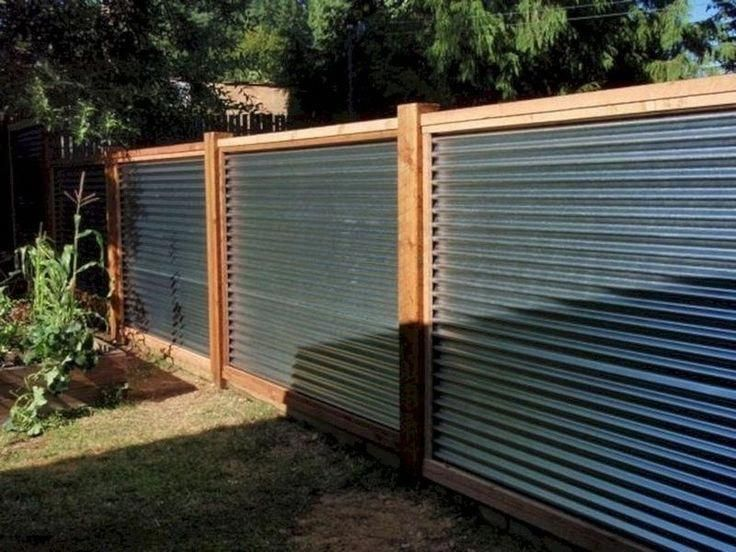 Awe Inspiring Fence For Back Yard Have A Look At Our Short Article For More Innovations Fenceforb In 2020 Privacy Fence Designs Corrugated Metal Fence Fence Design