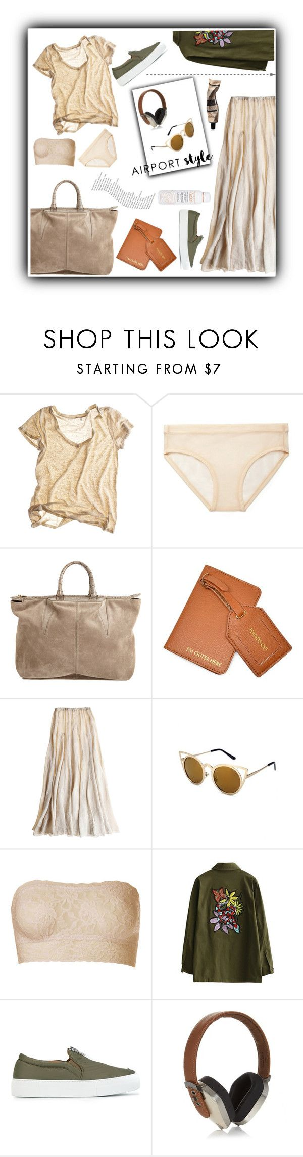 """airport style"" by denisse-ponce ❤ liked on Polyvore featuring Calypso St. Barth, Acne Studios, Alexander Wang, Botkier, CP Shades, Hanky Panky, Avène, Joshua's, Pryma and Aesop"