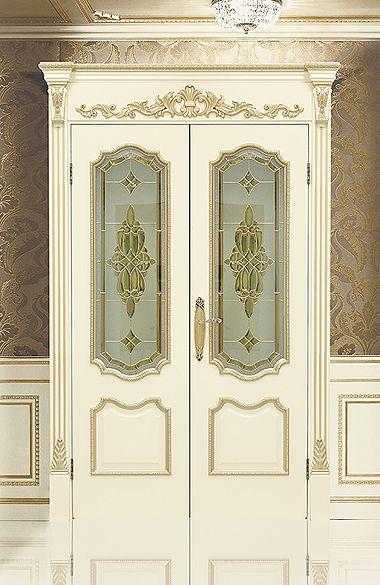 """Двустворчатая межкомнатная дверь """"Сицилия J"""". Отделка """"слоновая кость"""" #дверирулес #двери #межкомнатные #русский_лес"""