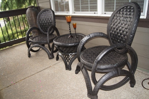 Tire furniture recycled rubber pinterest furniture for How to make tire furniture