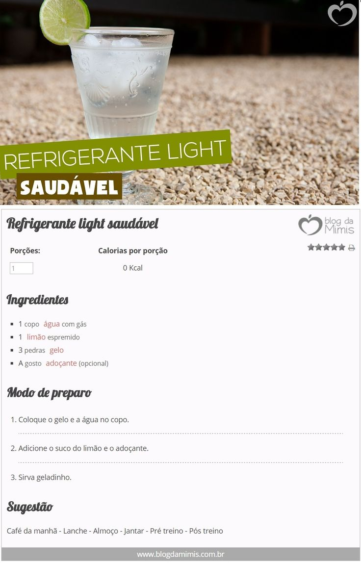 Refrigerante light saudável - Blog da Mimis - Emagreça com refrigerante zero…