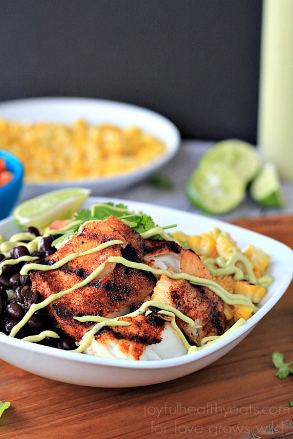 127 best tasty tilapia recipes images on pinterest fish fish grilled tilapia bowls with chipotle avocado crema forumfinder Image collections