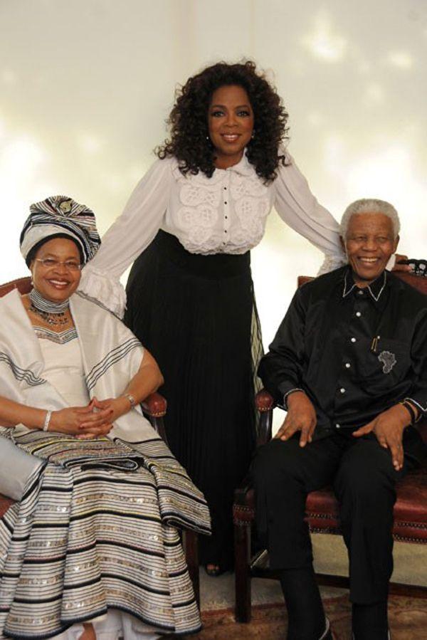 Nelson Mandela with Oprah Winfery