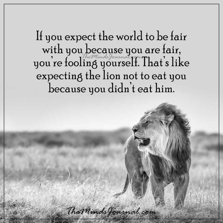 If you expect the whole world to be fair -  - http://themindsjournal.com/if-you-expect-the-whole-world-to-be-fair/