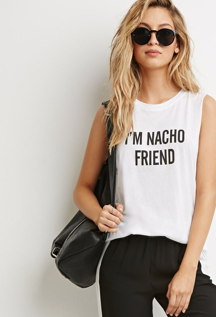 Nacho Friend Muscle Tee | Forever 21 - 2000173715