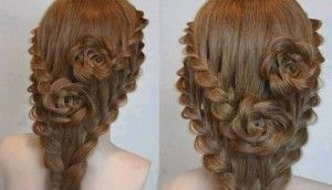 Lace-Braid-Roses-For-Long-Hair