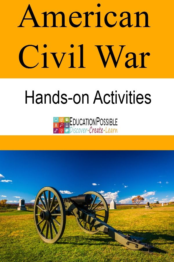 We have found many projects and activities to help our middle school kids to learn more about the American Civil War. We love books, music, art, and of course history hands-on activities. Project ideas for tweens/teens.