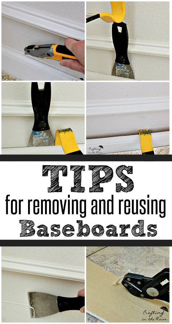 How to Remove Baseboards without Damage | Crafting in the Rain