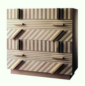 Ettore Sottsass striped drawer unit