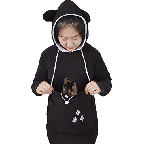 Mer Enn Unike Ideer Om Kangaroo Pouch På Pinterest - Hoodie with kangaroo pouch is the perfect cat accessory