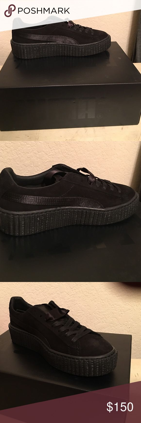 Fenty pumas Fenty by Rihanna satin suede creepers black Puma Shoes Sneakers