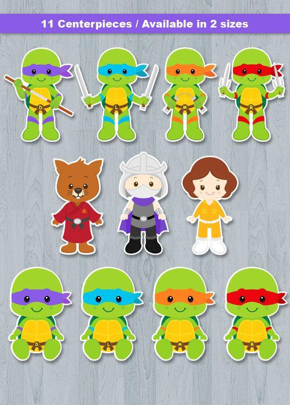 Ninja Turtle Centerpiece, Ninja turtle Table Centerpiece, Ninja turtle Cake Topper, Ninja turtle Wall Decor