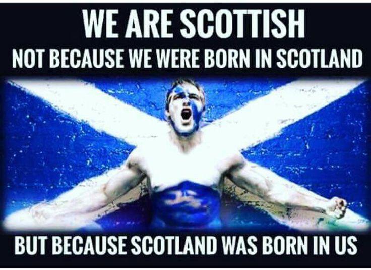 We are Scottish...