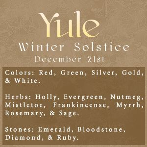 Winter Solstice:  #Yule.
