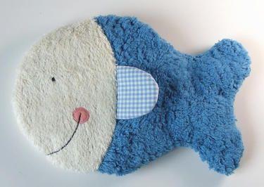 Kirschkernkissen Fisch Auablub.blau