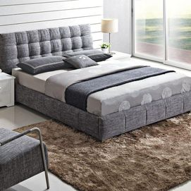 'Rizzo' Upholstered Platform Bed - Sears