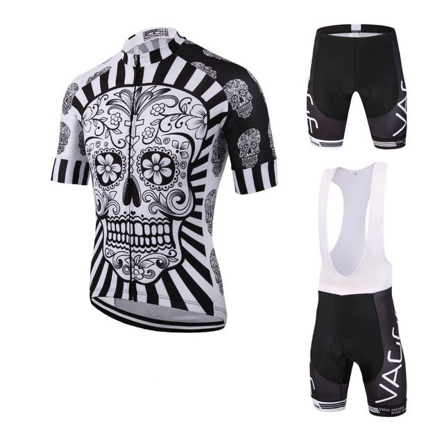 2017 Skeleton new men's cycling wear jersey/brand UV protection. Team cycling clothing/fitness mountain road bike clothing set
