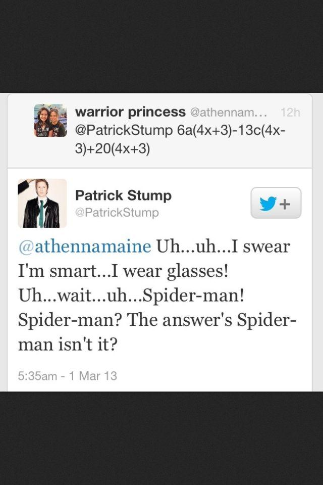 Patrick Stump Tweets are the best kind of tweets