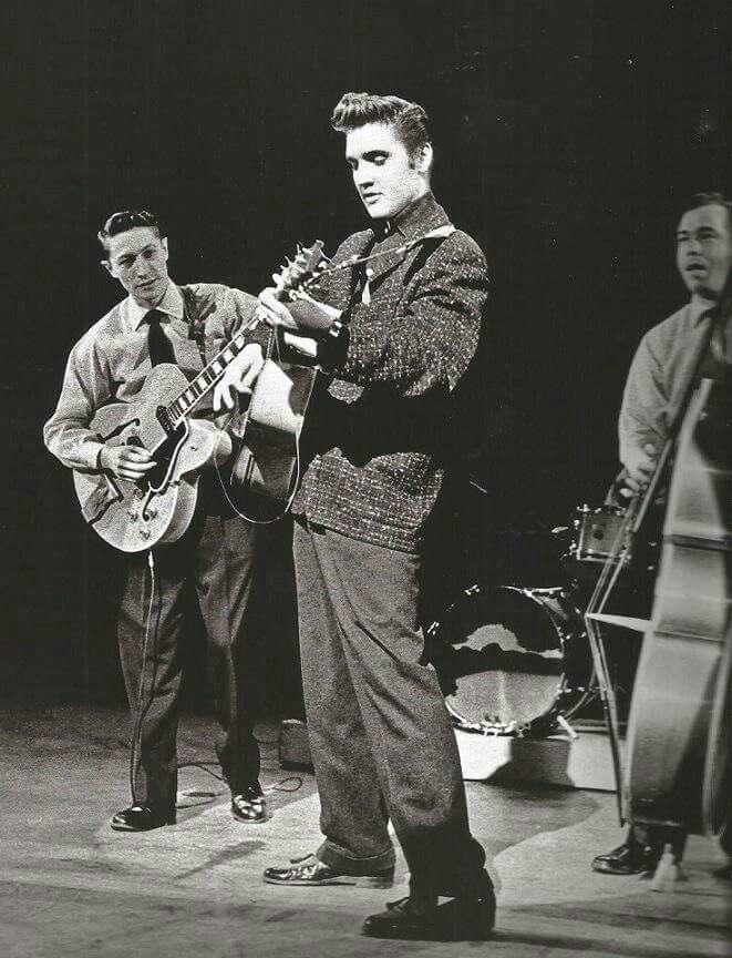 January 28, 1956 Elvis Presley First National Television Appearance On The Dorsey Brothers Stage Show. - Produced By Jackie Gleason. Elvis Appeared Six Times On The Dorsey Brothers Stage Show.- CBS Studio 50 - New York City, NY - TCB⚡with TLC⚡