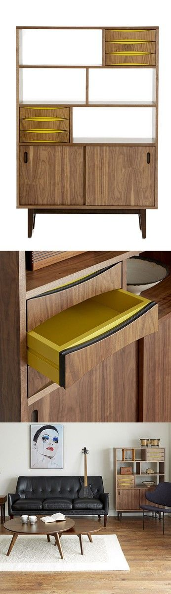 Mid Century inspired display storage unit | furniture design