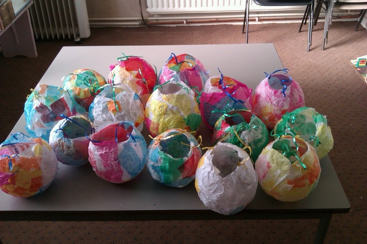 Paper mache lanterns (Oct 2012). Made for a local lantern festival.