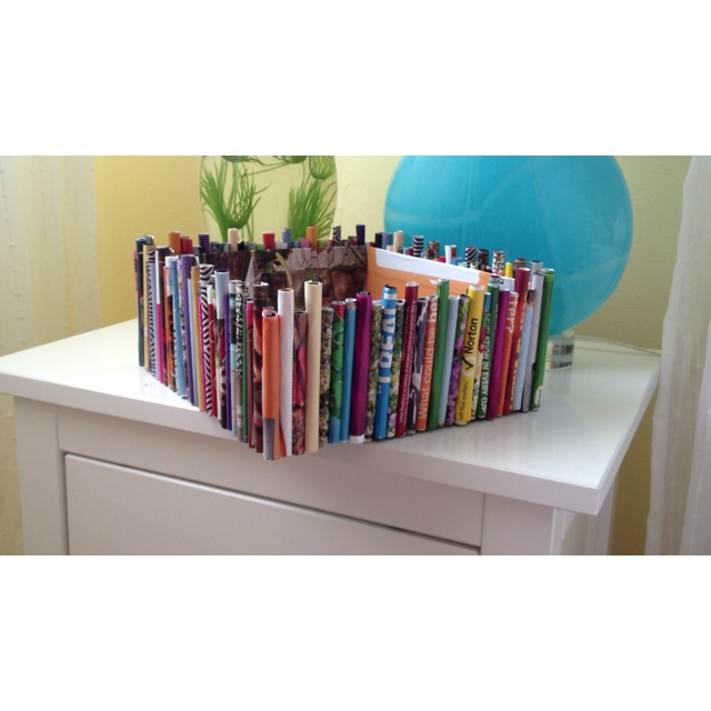 Shoe Box Decorated With Magazine Pages:)