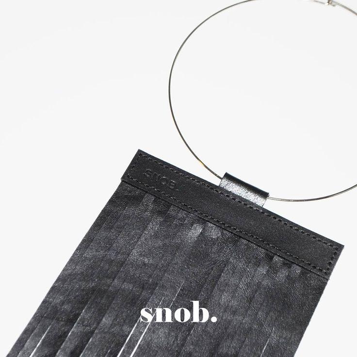 Leather fringes necklace https://www.facebook.com/snobdot www.snobdot.com