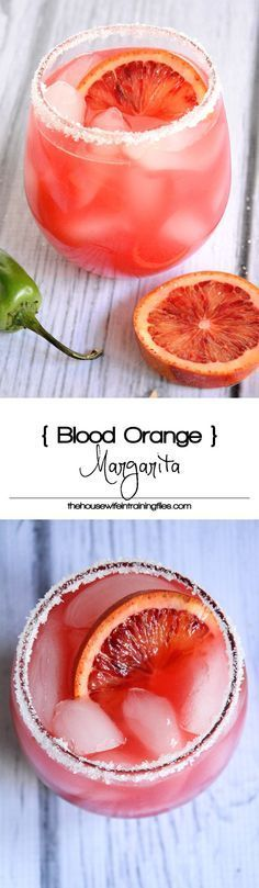 A refreshing twist on a classic margarita with fresh blood orange juice, triple sec and fresh squeezed lime juice!