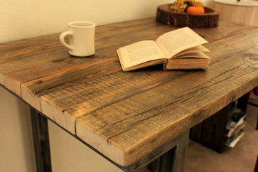Reclaimed Wood Bar Pub Table modern bar tables