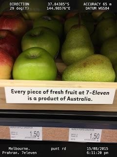 Every piece of fresh fruit at 7 Eleven is a product of Australia   .food-7-ELEVEN Convenience-Stores Food-And-Drinks Fruits Melbourne
