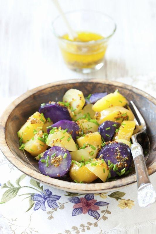 Pomme de terre violettes