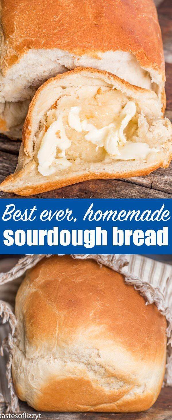 The best homemade bread! Soft, chewy sourdough bread with a beautiful golden brown crust.