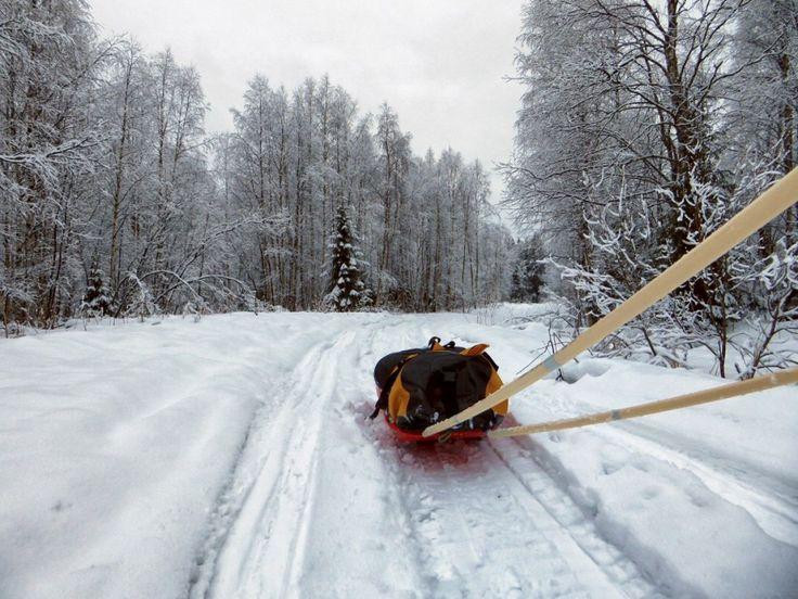 Mentre a Sochi erano già iniziate le Olimpiadi invernali, alcuni appassionati degli sport invernali, ma in versione estrema, hanno preso parte a una corsa di 150 chilometri nel Circolo polare artico, vicino a Rovaniemi, la capitale della Lapponia finlandese. Un giorno e mezzo nella neve, tra