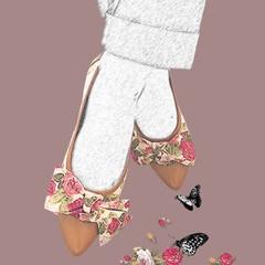Stasia Florence Flat Shoes- Artwork