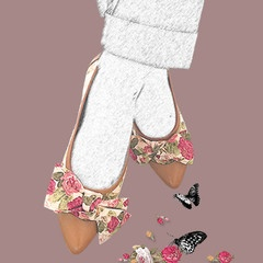 Stasia Florence Flat Shoes- Artwork