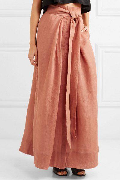 658665ed4c KALITA avedon days linen-canvas maxi skirt.  kalita  skirts