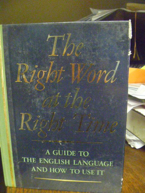 The Right Word At The Right Time   Hardback by BookShopBiblioteque, €25.00
