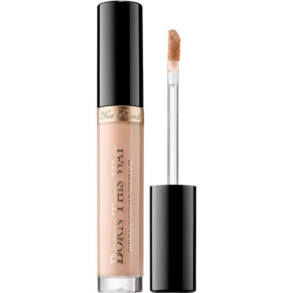 Too Faced Born This Way Natually Radiant Concealer found on Polyvore featuring beauty products, makeup, face makeup, concealer, too faced cosmetics, oil free concealer, creamy concealer, moisturizing concealer and dark circle concealer
