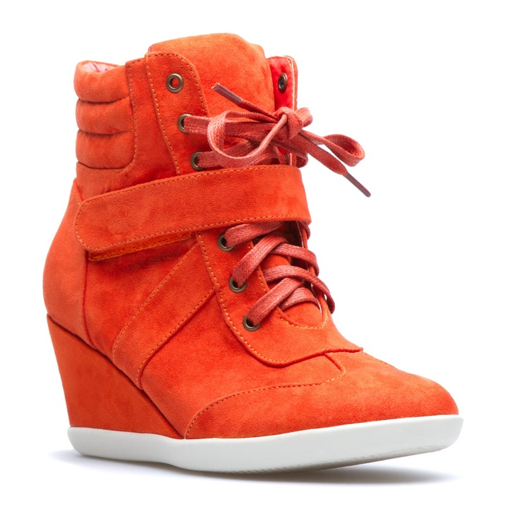 Whilst I dream of Isabel Marant high-top red sneaks - these cheapies aren't all that bad.. but I may just have to splurge for the real deal