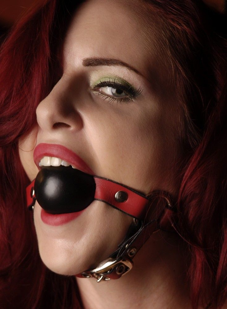 girl in ball gag