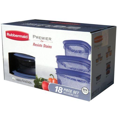 Rubbermaid Premier Purple Food Storage Set 18 Pc Stain