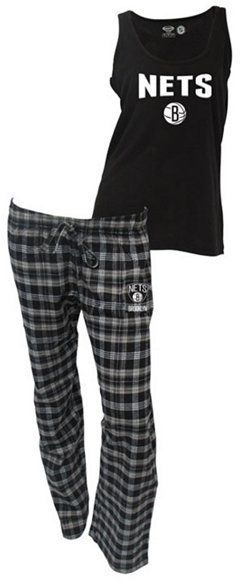 College Concepts Women's Brooklyn Nets Tank and Pajama Pants Set