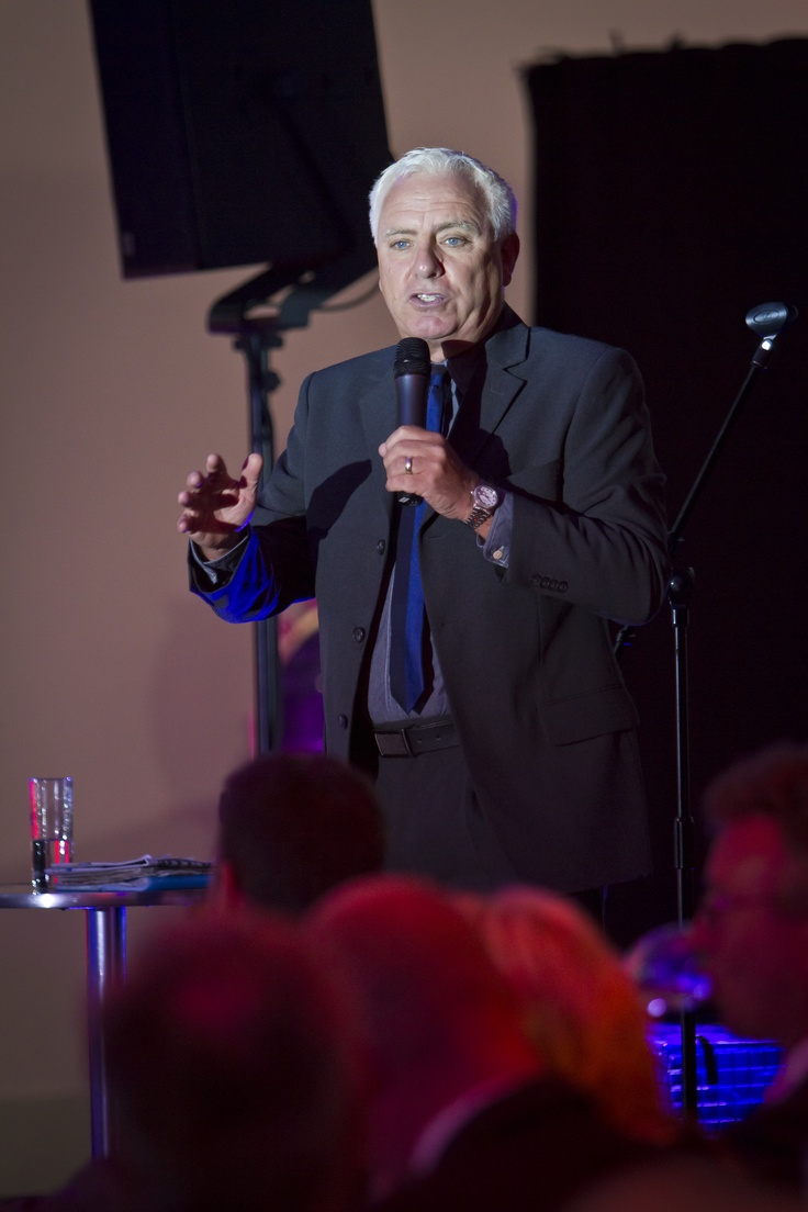 Dave Spikey entertaining the crowd at a gala dinner after one of our conferences.  Looking for a conference organiser in Manchester, Cheshire or the North West?  Contact www.assuredevents.com