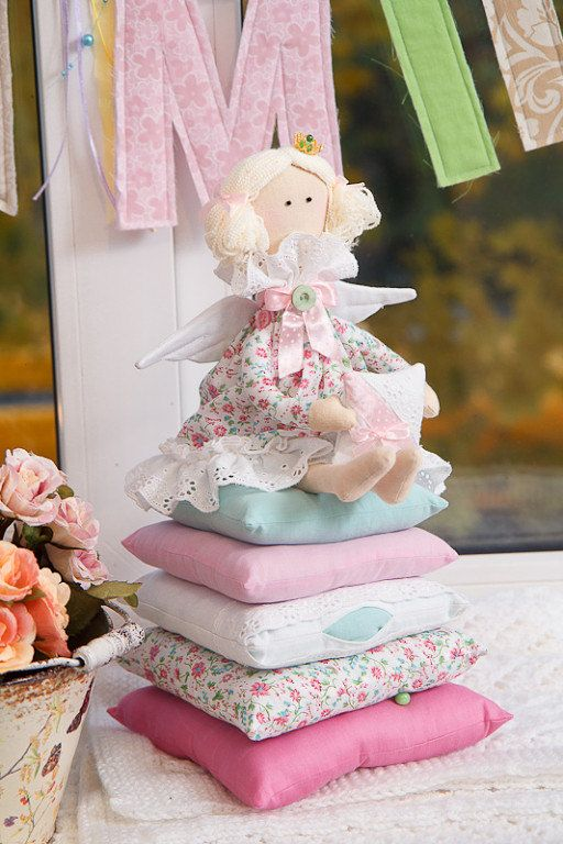 Tilda Doll - The Princess and the Pea. Interior Textile Cloth Doll, handmade