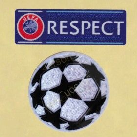 UEFA CHAMPIONS LEAGUE RESPECT + BALL FOOTBALL PATCH 2012 2015 SOCCER SHIRT BADGE