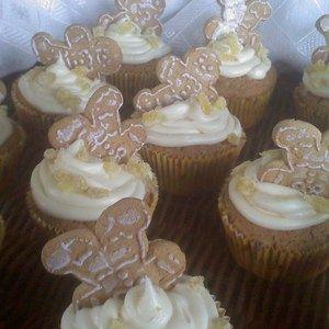 ~Drunken Gingerbread Men Cupcakes!  Recipe