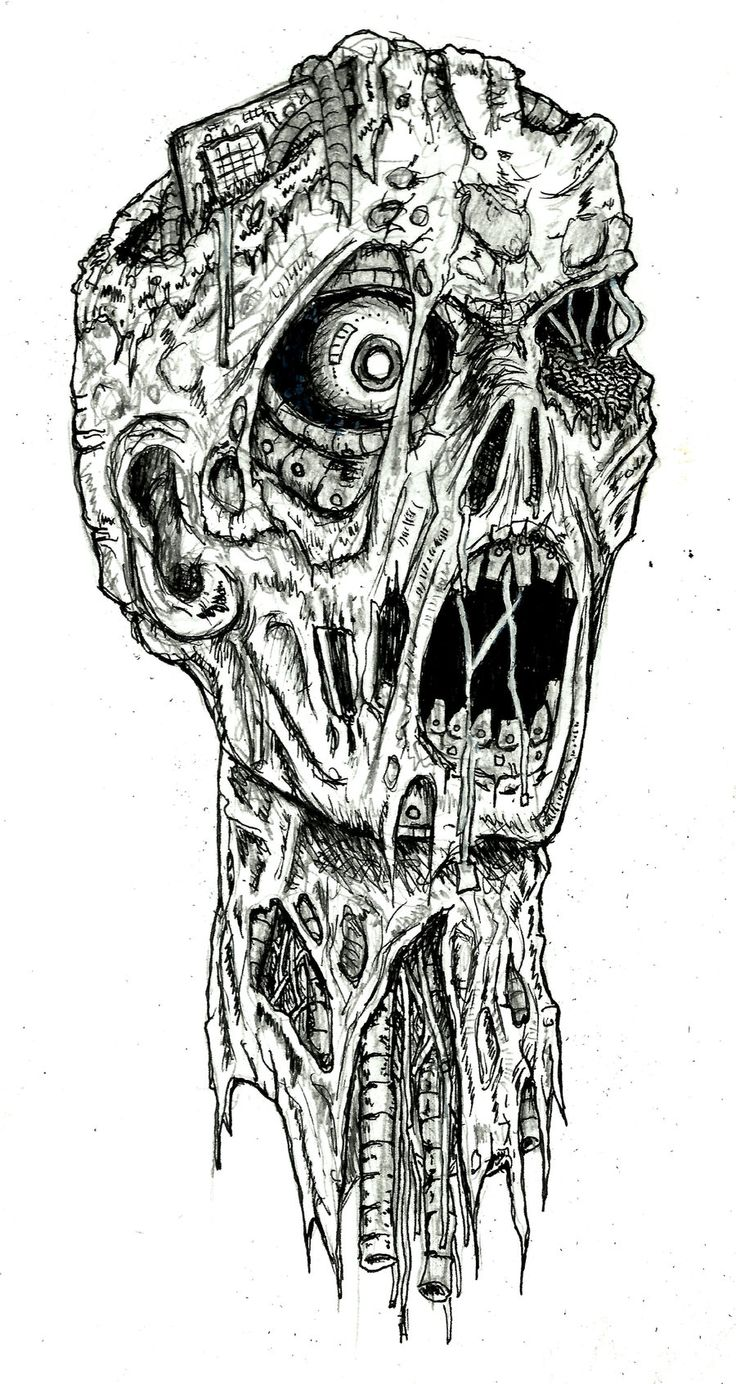 Zombie+Drawings+in+Pencil | robot zombie by ayillustrations traditional art drawings macabre ...
