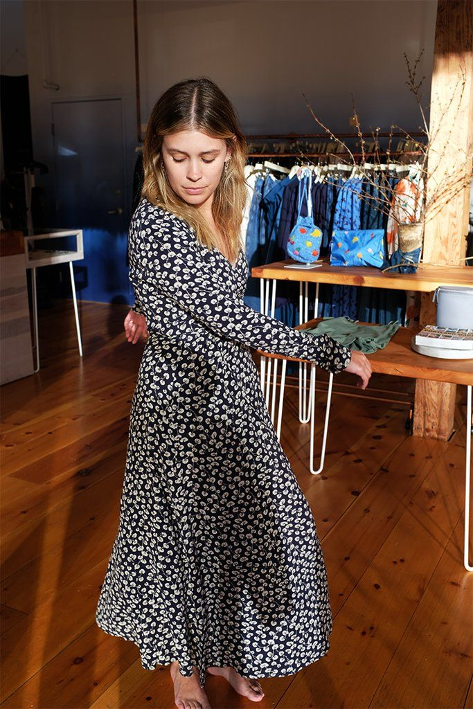 81a33e9c Roseburg Crepe Dress, Total Eclipse by Ganni | WM GANNI | Ganni ...