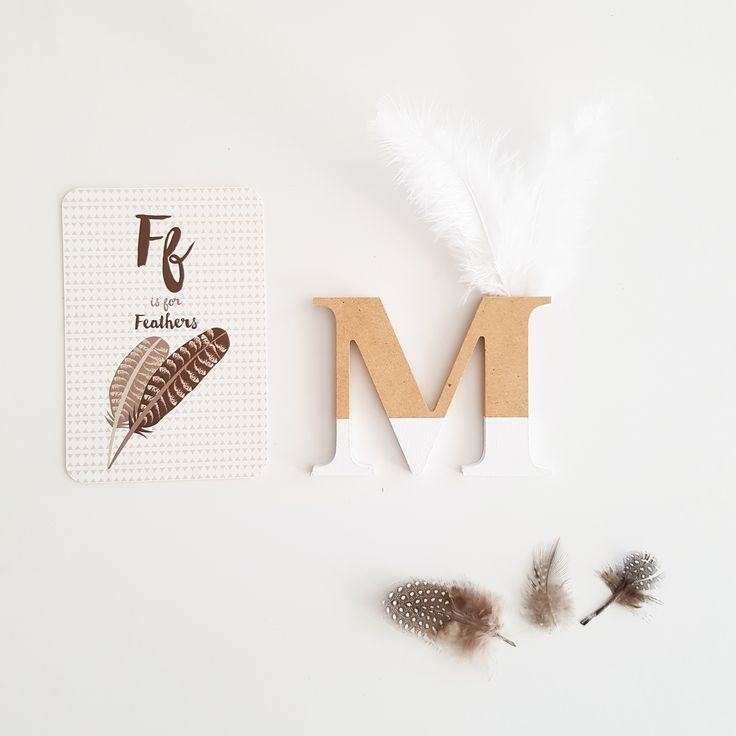Beautiful ply wood laser cut letters approx 7cm tall available in your choice of colours and white or black feathers. Please leave desired letter and feathers colour as a note at checkout.Pleas...